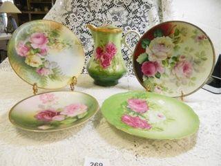 Decorative Pitcher   Plates