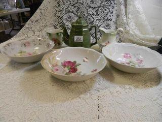 Decorative Bowls  3  Cup  Teapot