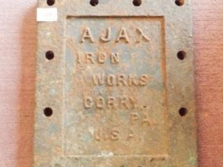 Ajax Iron Works  Corry  PA   cover   door
