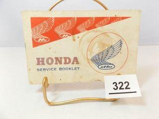 Honda Motorcycle Service Booklet
