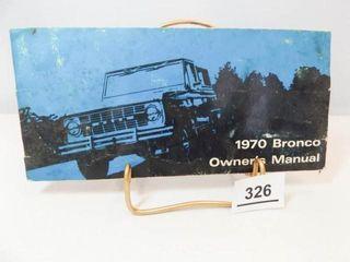 1970 Ford Bronco Manual
