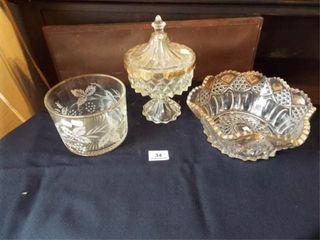 Decorative Glassware with Gold like trim