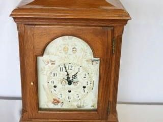 Wooden Table Clock  Norman Rockwell Face