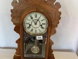 Waterbury Clock  Walnut  Marked Nov  4  1902