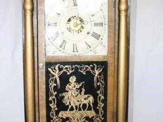 Seth Thomas Clock 14  x 25  x 41 2  has weights