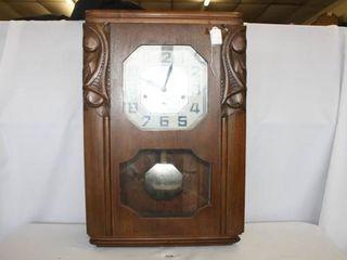 Art Deco Style Clock  No Visible Markings
