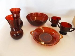 Ruby Red Bowl  Vases  Other Pieces  12