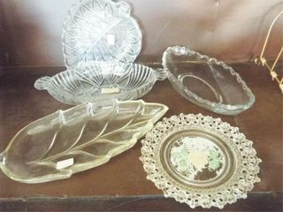 Small open candy dish lot  8 pieces   easel