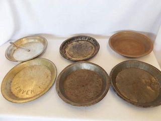 Tin Pie Plates  6