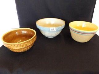 Stoneware Bowls  3