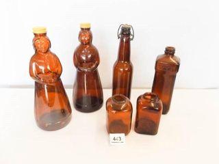 Brown Glass Bottles   Aunt Jemima  2