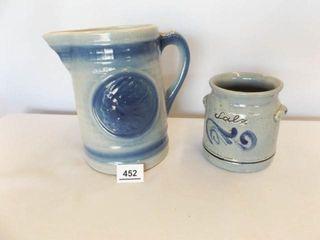 Pottery Pitcher  Crock