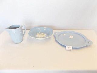 light Blue Bowl  Plate  Pitcher  3