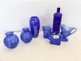 Cobalt Blue Glass Pieces  7