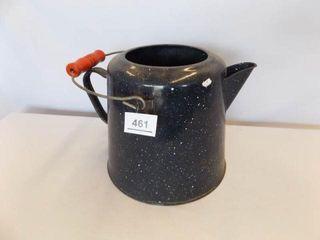 Enamelware Kettle  no lid  black