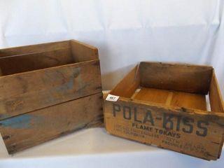 Wood Boxes  2    Blue Goose  Pola Kiss