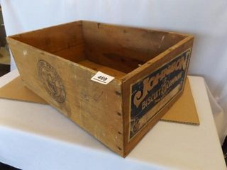 Wood Box   Johnson Biscuit Co