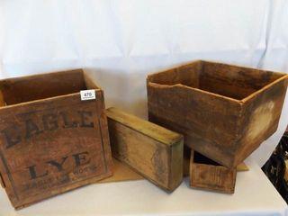 Wood Boxes  4    Eagle lye  Natural leaf