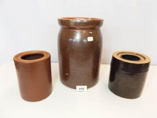 Brown Stoneware Canning Crocks  3
