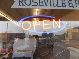 OPEN  Electric Hanging Sign  23  x 9  x 3
