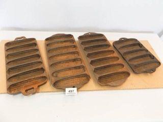 Cast Iron Cornbread Molds  4