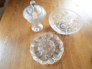 Glass Compote  American Press cut Bowl  egg