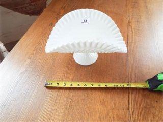 White Fan shaped basket