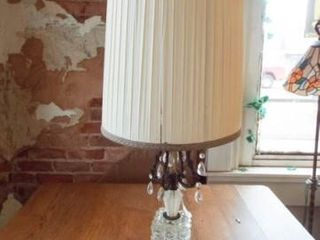 Vintage lamp with Crystals