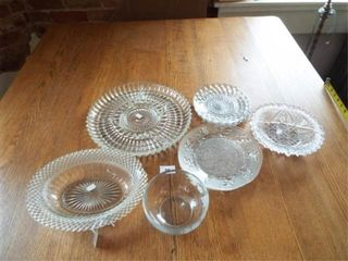 Patterned Glass dishes  Etched Hummingbird