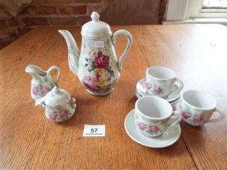 Rose Pattern Small Tea Set