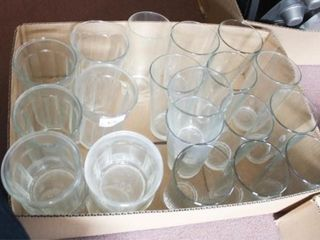 Drinking Glasses  Various Styles 21 total