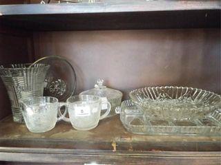 Glassware Grouping  some fruit pattern et al