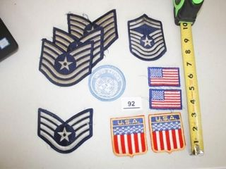 Military Patches  Blue and Grey  Flags