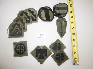 Military Patches  17 total Green and Black