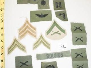 Military Patches 15 total   Bounds  name