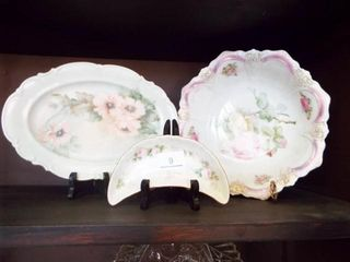 Painted Serving ware Bowl  moon  oval