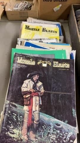 ABOUT 59 ISSUES OF MUZZlE BlASTS FROM 1970IJS ANC