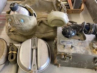MESS KIT   CANTEEN FIElD PHONE AND CONTAINER