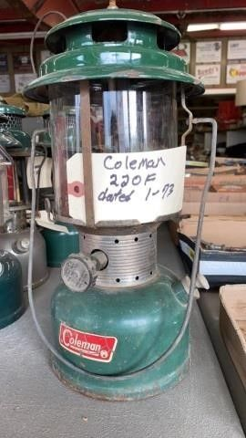 COlEMAN 220F DATED 1 73