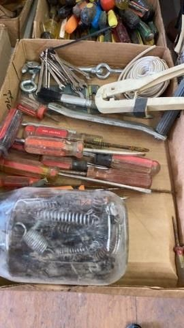 BOX OF SPRINGS   SCREWDRIVERS WIRE   TINY