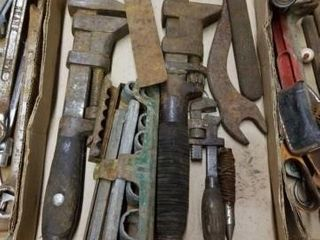 ANTIQUE PIPE WRENCHES  SOCKETS  SQUARE