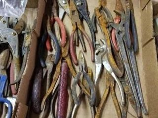 NUMEROUS PlIERS AND CUTTERS