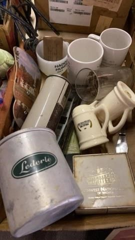 VINTAGE GlASWARE AND ADVERTISING ITEMS