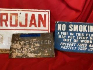 NO SMOKING  TROJAN AND 1959 MONTGOMERY WARD