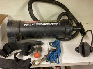 COlEMAN QUICK PUMP AND ASSORTED CAMPING NEEDS