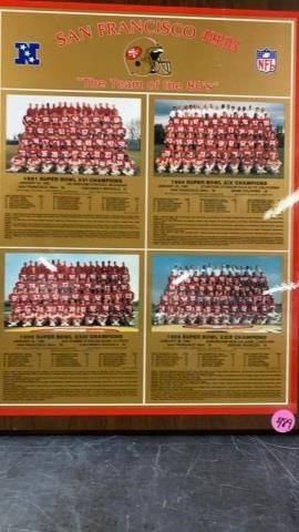 SAN FRANCISCO 49ERS TEAM OF THE 80IJS PICTURE