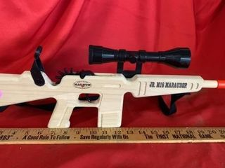 JR M16 MARAUDER WOODEN CAP GUN WITH STRAP