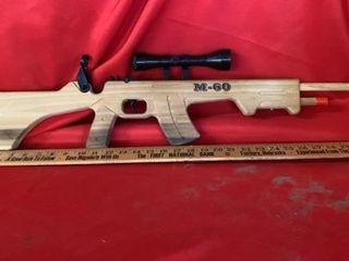 M 60 CAP WOODEN GUN WITH SCOPE