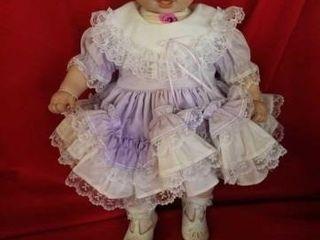 PORCElAIN 21  BABY DOll  lAVENDER DRESS AND WHITE