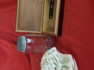 QUART MASON S JAR  BUTTERFlY WAll HANGINGS